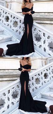 Sexy Off Shoulder Mermaid Prom Dresses Long Formal Evening Gowns – alinanova