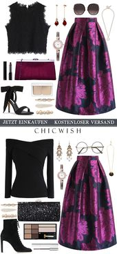 Peony Jacquard Midi Skirt in Violet – Anziehsachen