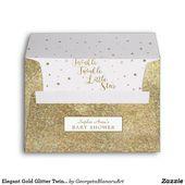 Baby Showers Twinkle Elegant Gold Glitter Twinkle Twinkle Baby Shower Envelope