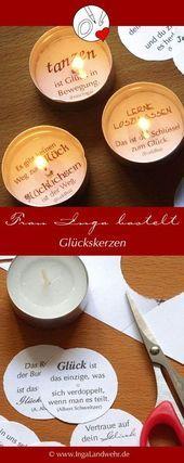 Photo of Glückskerzen zum Verschenken von Frau Inga basteln.