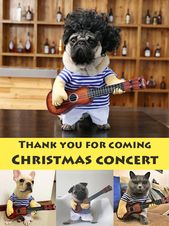 Pets' Guitarist Costume for Halloween & Christmas Cosplay