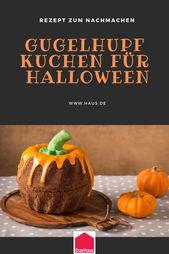 Receta de Halloween: Calabaza de Magdalena Divertida   – Halloween: Deko und Rezepte