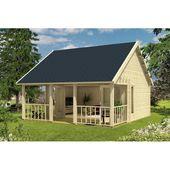 550 cm x 598 cm Gartenhaus Deonte Garten Living Fundament: Mit Fundament, Boden: Mit Fußboden – 27 mm, Dach: Rechteckig Grün