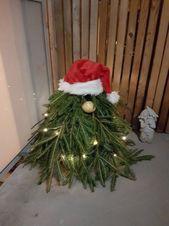 Photo of DIY Weihnachtsgartendekorationen – Nordische Gartenzwerge aus immergrünen Zweigen …