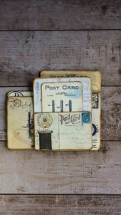 Nähen Postkarten Junk Journal Insert | My Porch Prints, #Cards #Insert #journal #Junk #medi …