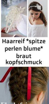 Stirnband * Lace Pearl Flower * Braut Kopfschmuck   – Haare