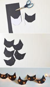 This very cute black cat fairy lights