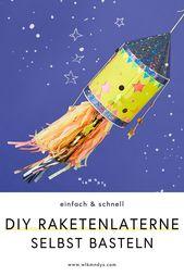 Lantern Craft Kit: DIY Rocket Lantern – Crafting with Kids – WLKMNDYS