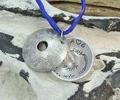 Geschenk Beste Freundin – Medaillonkette Halskette Kette für Sie Spiralen handgestempelt Grav…