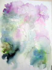 Aquarell Blumen: Winterblumen: Hellebores