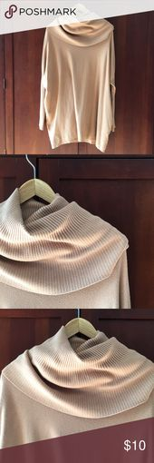 Neutral Tan sweater. Goes great with boots! Fun ne…