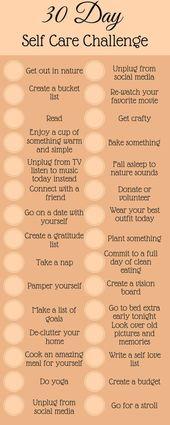 30 Tage Self Care Challenge  – Persönliche Weiterentwicklung