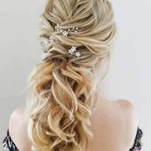 Wedding Hairstyles/Bridal Hair soft waves in a ponytail with our Rebecca pins