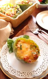 This easy to make stuffed bell peppers recipe features peppers filled with lean …