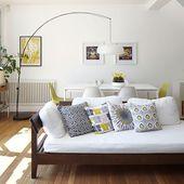 Offenes Wohnzimmer im Mid-Century Stil | Wohnzimmer dekorieren | Ideales Zuhause