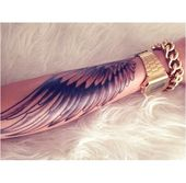 Flügel-Arm-Ärmel-Engel-Gold-Uhr-Rozaap #TattooInspiration Hier klicken, um mehr zu sehen.