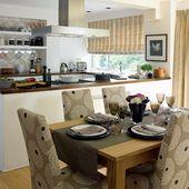 Stylish open-plan kitchen-dining room