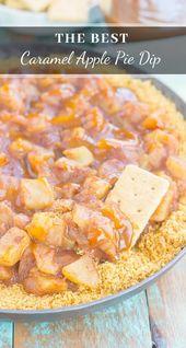 Dieser Easy Caramel Apfelkuchen Dip schmeckt wie der klassische Kuchen, aber ohne …   – DIPS: SWEET