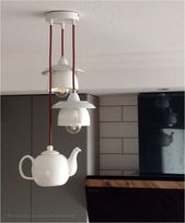 kitchen lighting in form of tea cups a teapot cups form kitchen lighting