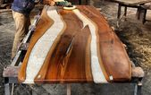 SOLD new form epoxy resin table,new design live edge,epoxy river table,slab single table,resin coffe table, special firnuture