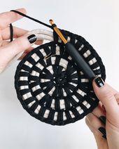 Panier de crochet de corde de corde, #Basket #Coil #Crochet #Rope