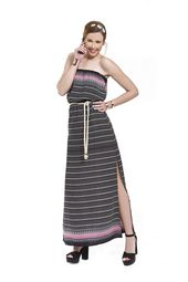 95232b84db9 Φόρεμα διαφάνεια μακρύ σε ριχτή γραμή με δαντέλα στο μπούστο και μονόχρωμο  εσωτερικό | Bellino Dresses | Dresses