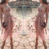 Vestito Donna Donna Ballo Abito in Pizzo Moda Matrimonio Manica Lunga Sexy Party…