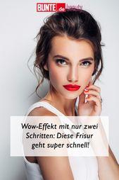 Frisuren-Tutorial: Wow-Effekt in nur zwei Schritten: Diese Frisur ist superschnell   – Haare: Tipps & Tricks