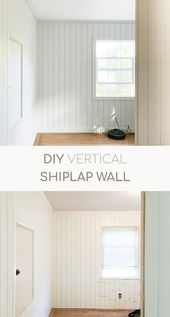 DIY Vertical Shiplap Wall – #DIY #shiplap #vertical #Wall