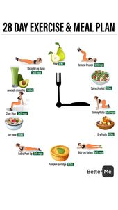 28 day exercise and meal plan 1