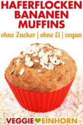 Vegane Bananen-Muffins mit Haferflocken