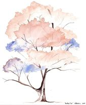 The Love Tree Watercolor 5-3-10 Baum kleines Aquarell