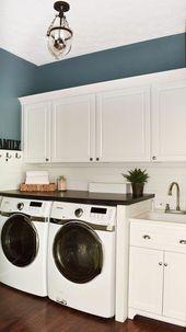 Shiplap Laundry Room Reveal