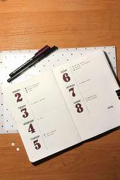 #bullet #journal #kalender #minimalistische #verbr…