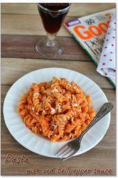 Fusilli Pasta in gerösteter roter Paprikasoße   – Daniel Fast Recipes