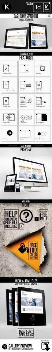 Business Cash Flow Statement Digital Template  Keboto  Templates