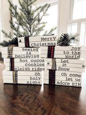 Gestempeltes Buch / gestempeltes Buch-Set / Buch-Bundle / Buch-Set / Weihnachten gestempeltes Buch / Weihnachtsbuch-Set / Weihnachten