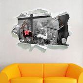 Photo of Home Loft Concept Windowsill Dekoriert für Weihnachten Wandaufkleber | Wayfair.co.uk