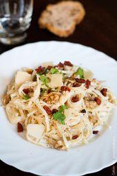 Pâtes à la ricotta, chorizo, noix et parmesan   – Miam! Pasta