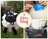 Laterne basteln aus Luftballon – Shaun das Schaf, mit Anleitung+Vorlage – mamaz.de | Mamablog, Basteln mit Kindern, DIY