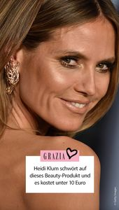 Heidi Klum swears by these beauty products under 10 euros