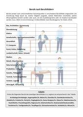 Arbeitsblatt Berufe Berufsfelder Berufe Kennenlernen Einstieg In Arbeit Spielerisches Lernen Berufe