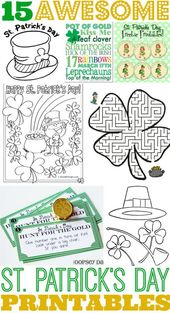 15 Awesome St. Patrick's Day Free Printables for Kids – Classy Mommy