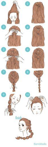 Manière pratique de ramasser vos cheveux - Büşra