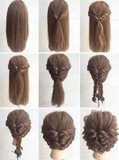 Quick and easy updos for long thick hair #hair #hairmakeup #hairstyles