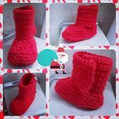 Christmas crochet  – CORONO DE NAVIDAD YUTE