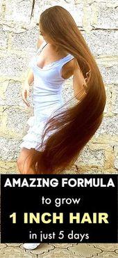 Greatest Hair development method – Develop 1 inch hair in simply 5 days