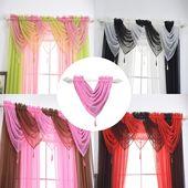 Segeln Vorhang Swags alle Farben Pelmet Volant Net Vorhänge Segeln Swag ★ Segeln R …   – Products