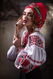 Femme chemise en lin brodé. Vyshyvanka. L'ukrainien brodés shirt. Chemise brodée. Vyshyvanka ukrainienne