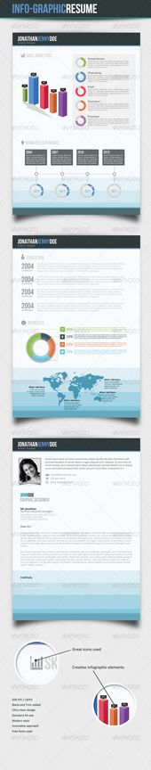 Clean Single Page Resume Glyph icon, Infographic resume and - single page resume